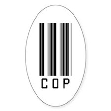 Cop Barcode Oval Decal