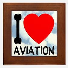 I Love Aviation Framed Tile