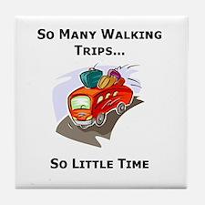 So Many Walking Trips Tile Coaster