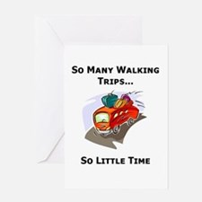 So Many Walking Trips Greeting Card