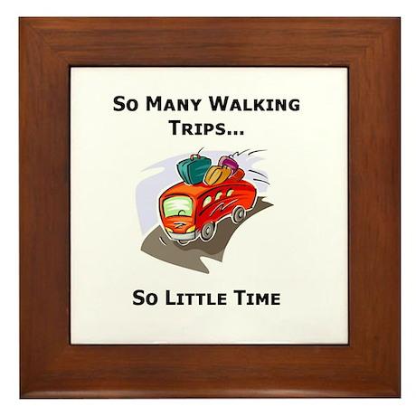 So Many Walking Trips Framed Tile