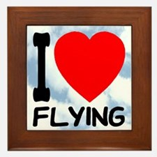 I Love Flying Framed Tile