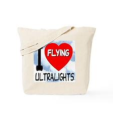 I Love Flying Ultralights Tote Bag