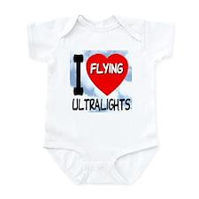 I Love Flying Ultralights Infant Bodysuit