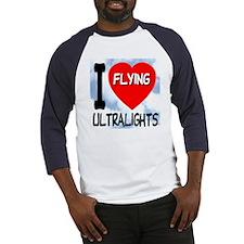 I Love Flying Ultralights Baseball Jersey