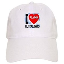 I Love Flying Ultralights Baseball Cap