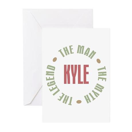 Kyle Man Myth Legend Greeting Cards (Pk of 20)