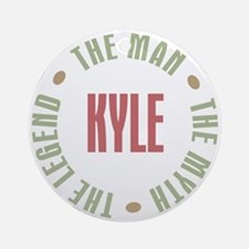 Kyle Man Myth Legend Ornament (Round)