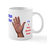 1 year smoke free Small Mugs (11 oz)