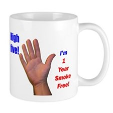 High Five I'm 1 Year Smoke Fr Small Mug