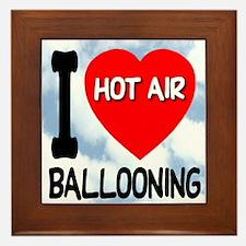 Hot Air Ballooning Framed Tile