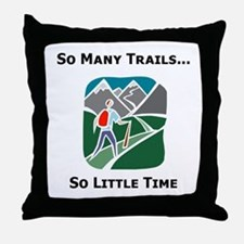 So Many Trails Throw Pillow