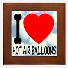 Hot Air Balloons Framed Tile