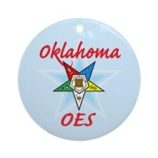 Oklahoma Eastern Star Ornament (Round)