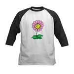 Flower Face Kids Baseball Jersey