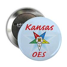 "Kansas Eastern Star 2.25"" Button"