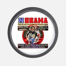 Obama anti oil Wall Clock