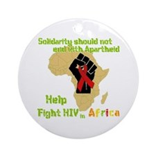 Fight HIV Africa Ornament (Round)
