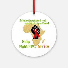 Fight HIV Africa Ornament (Round)