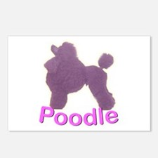 Purple Poodle Postcards (Package of 8)
