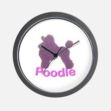 Purple Poodle Wall Clock