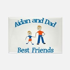 Aidan and Dad - Best Friends Rectangle Magnet