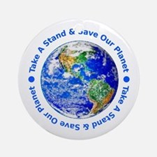 Save Our Planet! Ornament (Round)