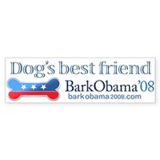 Bark Obama dog's best friend bumper