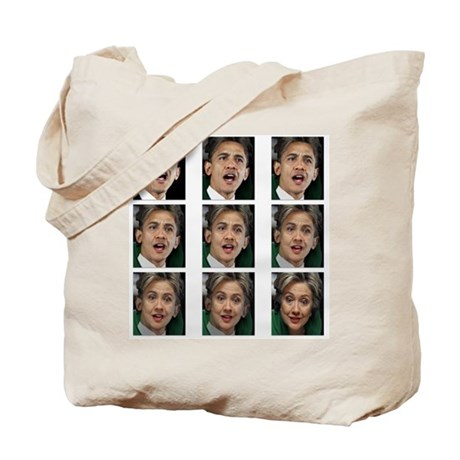 Barack to Hillary Tote Bag