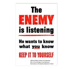The Enemy is Listening Postcards (Package of 8)