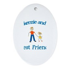 Mackenzie and Dad - Best Frie Oval Ornament