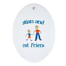 Sophie and Dad - Best Friends Oval Ornament