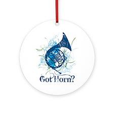 Got Horn Grunge Ornament (Round)