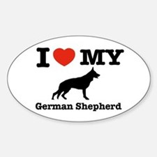 I love my German Shepherd Oval Decal