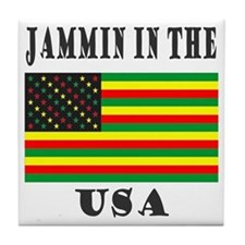 'Jammin in the USA' Tile Coaster