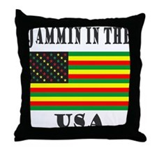 'Jammin in the USA' Throw Pillow