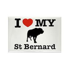 I love my St Bernard Rectangle Magnet (100 pack)