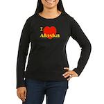 I Love Alaska! Women's Long Sleeve Dark T-Shirt