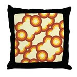 Funky Vintage Sunset Throw Pillow