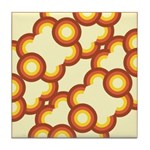 Funky Vintage Sunset Tile Drink Coaster