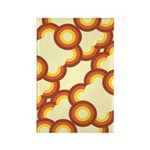 Funky Vintage Sunset Rectangle Magnet (100 pack)