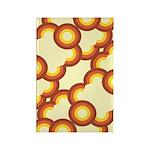 Funky Vintage Sunset Rectangle Magnet (10 pack)