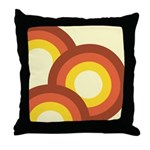 Warm Vintage Rainbow Throw Pillow