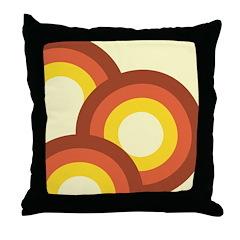 Warm Vintage Rainbow Throw Pillow