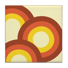 Warm Vintage Rainbow Tile Drink Coaster