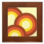 Warm Vintage Rainbow Framed Tile