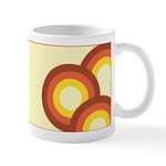 Warm Vintage Rainbow Ceramic Coffee Mug