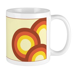 Warm Vintage Rainbow Ceramic Coffee Mug