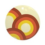 Warm Vintage Rainbow Ornament (Round)
