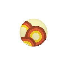 Warm Vintage Rainbow Mini Button